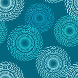 Pattern seamless pattern background circular patterns gears on a. Blue Royalty Free Stock Image