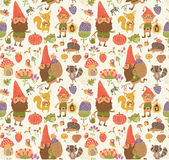 Pattern Seamless pattern with gnomes Stock Photos