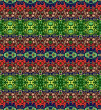 Pattern. Seamless psychedelic pattern background, Colored oriental texture Stock Photography
