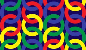 The pattern is seamless from the rings of different colors. royalty free illustration