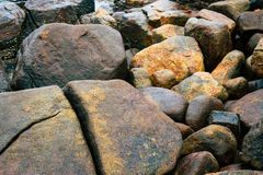 Pattern of Seamless rock texture and surface background close up stock photo