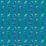 Pattern seamless set of the runner. male female group  who`s love to run. vector illustration eps10 vector illustration