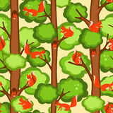 Pattern seamless with squirrel Stock Photo