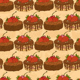 Pattern seamless sweet cake Royalty Free Stock Images