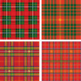Pattern of seamless tartan plaid Stock Photos