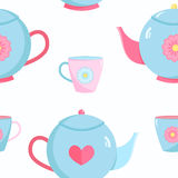 Pattern seamless teapot Royalty Free Stock Images