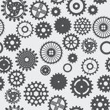 Pattern seamless texture background gear wheel turns dark on whi Stock Photo
