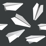 Pattern seamless texture of a paper airplane toy origami white o Royalty Free Stock Photography