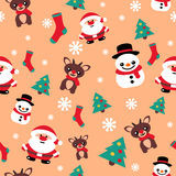 Pattern seamless texture with a snowman Christmas reindeer and S Stock Image