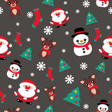 Pattern seamless texture with a snowman Christmas reindeer and S Royalty Free Stock Photo