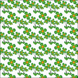 Pattern seamless vector flower Stock Image