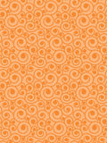 Pattern. Seamless vector scroll spiral floral orange background Stock Images