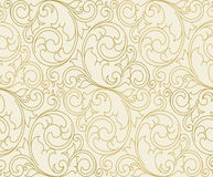 Pattern. Seamless vector scroll spiral floral orange background Stock Photos