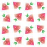 Pattern. Seamless pattern of watercolor strawberries -  illustration Royalty Free Stock Photography
