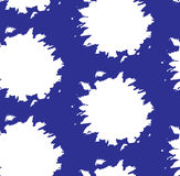 Pattern seamless white spots on a blue background, for fabric, paper and other uses, vector Royalty Free Stock Image
