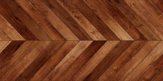 Seamless wood parquet texture horizontal chevron various brown