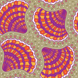 Pattern with seashells Royalty Free Stock Photo