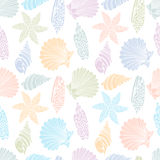 Pattern of seashells Royalty Free Stock Image