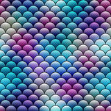 Pattern of semicircles in squama style Royalty Free Stock Photos