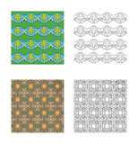 Pattern set_1 Royalty Free Stock Image