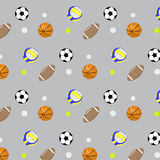 Pattern set ball basketball football volleyball Royalty Free Stock Images