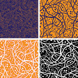 Pattern set with branches Stock Photos