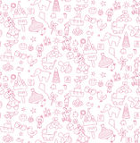 Pattern a set of children`s toy Stock Photography