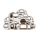 Pattern set collection with tech device Royalty Free Stock Image