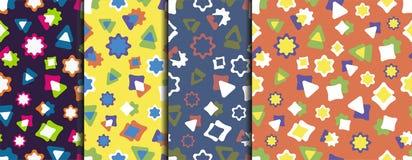 Pattern 10 A set of colorful fun patterns. royalty free illustration