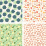Pattern set in naive floral Stock Photos