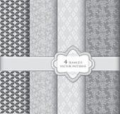 Pattern set. Retro seamless texture collection Stock Image