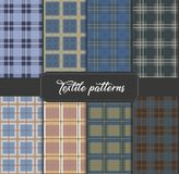 PATTERN 17 Set of seamless Textile Backgrounds royalty free illustration