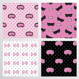Pattern Set Of Sleep Accessories Stock Images