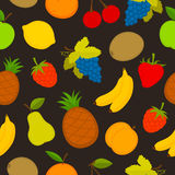Pattern set of vector fruit Royalty Free Stock Photography