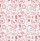 Pattern sewing accessory Doodle Royalty Free Stock Image