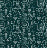 Pattern sewing accessory Doodle Stock Photography