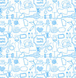 Pattern sewing accessory Doodle Royalty Free Stock Photo