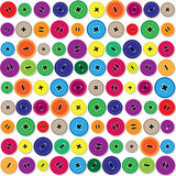 Pattern with sewing buttons Stock Images