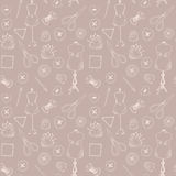 Pattern with sewing items. Seamless pattern with sewing items royalty free illustration