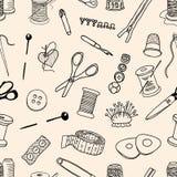 Pattern of sewing kit Royalty Free Stock Photo