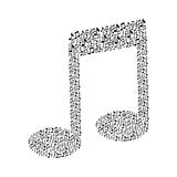 Pattern in shape music sing with musical notes Royalty Free Stock Image