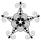 The pattern shape of a star on  white background. Royalty Free Stock Images