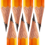 Pattern of a sharpened pencil Stock Images