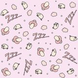 Pattern sheep pink royalty free illustration