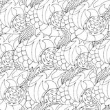 Pattern with shells royalty free illustration