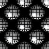 Pattern 8 Shiny Disco Balls Stock Photos