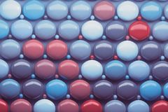 Pattern with shiny glossy balls vector illustration