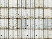 Pattern of shipping container stack at depot Stock Photo