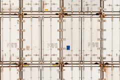 Pattern of shipping container stack at depot Royalty Free Stock Photos