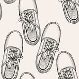 Pattern of shoes - sneakers. Royalty Free Stock Photography